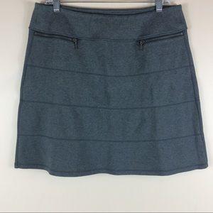 Athleta Ponte Knit Strata Charcoal Gray Skirt Sz L